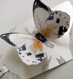 Sparkle farfalla sbattimento Pop Up Greeting Card