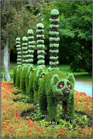 Outdoor Areas: Montreal botanic gardens topiary, Canada