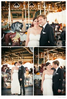Wedding Portraits at Jane's Carousel in Brooklyn
