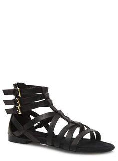 Evans Black Patent Loafers