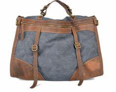 Leather canvas messenger bag, leather men's canvas bag, hose line bags, traveling bags, computer bags