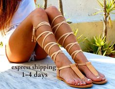 Sexy Sandals, T Strap Sandals, Lace Up Sandals, Leather Gladiator Sandals, Bridal Sandals, Ancient Greek Sandals, Natural Leather, Beautiful, Etsy