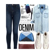 """""""Denim Guide: J Brand"""" by honii ❤ liked on Polyvore featuring Valentino, J Brand, Casetify, Rails, Converse, Kate Spade, Eddie Borgo, BackToSchool and JBrand"""