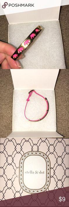 bracelet never worn, brand new pink elephant bracelet, adjustable Stella & Dot Jewelry Bracelets