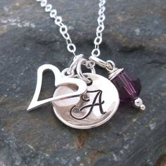 Initials necklace with silver charms. PT2004-84 £19.99
