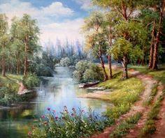 Картины (живопись) : Лесной пейзаж