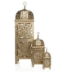 Casablanca Lantern - Gold | Hurricanes & Lanterns | Candleholders | Accessories | Decor | Z Gallerie