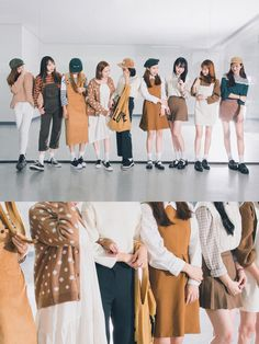korean fashion similar twin look mustard yellow cream white green navy blue black casual cute Cute Fashion, Look Fashion, Daily Fashion, Girl Fashion, Autumn Fashion, Vintage Fashion, Fashion Outfits, Fashion Design, Korean Fashion Trends