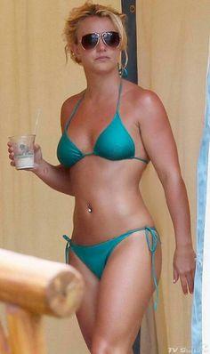 Britney Spears in Teal Triangle Bikini ®... #{T.R.L.}