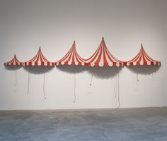 Jeff Colson Big Top, 2006 Fiberglass, steel, oil paint, and twine (H) x