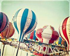 Fairground, balloons, lights