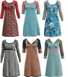 Kjoleinspiration - Another! Sewing Clothes, Diy Clothes, Clothes For Women, Girl Outfits, Casual Outfits, Fashion Outfits, Clothing Patterns, Dress Patterns, Sewing Online