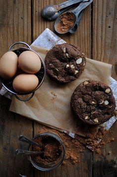 White Chocolate Chip and Macadamia Nut Chocolate Cookies