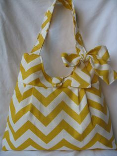 yellow chevron summer bag