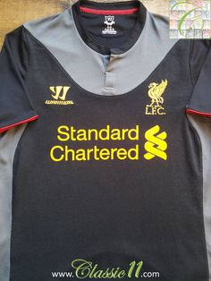 Relive Liverpool's 2012/2013 season with this vintage Warrior away football shirt.