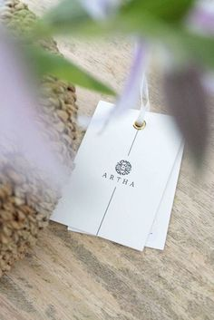 Transparency is part of our philosophy! Artha Collections products are delivered including a product tag with care instructions and an information flyer describing the process behind the product Philosophy, Place Cards, Place Card Holders, Collections, Branding, Products, Handarbeit, Brand Management, Philosophy Books