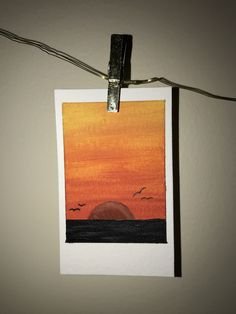 Sunset Polaroid Painting This painting was made to mimic popular Polaroid photos but is its own piece. Small Canvas Paintings, Small Canvas Art, Mini Canvas Art, Watercolor Painting Techniques, Painting & Drawing, Watercolor Paintings, Polaroid Foto, Arte Sketchbook, Polaroid Pictures