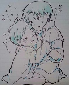 Turn Younger! Young!Rivaille(Levi) x Child!Eren