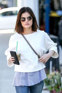 Lucy Hale out and about candid, Beverly Hills (31 January, 2017)