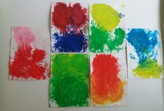 Painting with a friend (with 1-3 year olds) / day care - ECE / Arts&Crafts color mixing