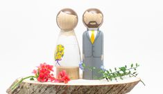 How-to: Peg Doll Wedding Cake Toppers - Goose Grease Shop