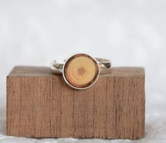 Wooden gifts ring inlaid with wood wooden ring sterling