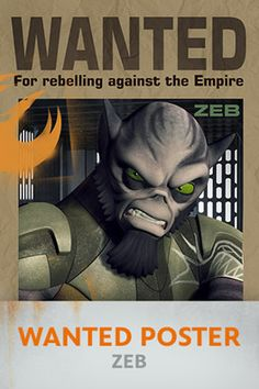 Star Wars Rebels: Zeb Wanted Poster