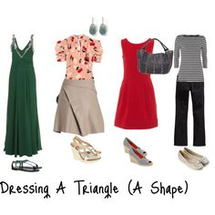 Wardrobe pieces for Dressing A Triangle (A Shape)