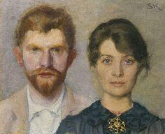 Duplo retrato de Marie e P. O casal retratou um ao outro. Marie Triepcke Krøyer Alfvén Encontra-se no Museu Skagens, em Skagen, Dinamarca. Stavanger, Skagen, Hans Holbein Le Jeune, Figure Painting, Painting & Drawing, Moritz Von Schwind, Scandinavian Art, Scandinavian Paintings, Art Google