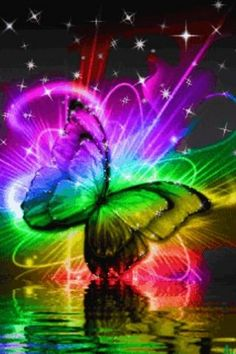 Colored Butterfly On Water Liv | Android Live Wallpaper Gallery