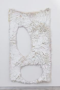 hawktrainer:  ANNA BETBEZE, MILK TOOTH, 2012 ASH, PLASTER AND GESSO COMPOUND, ACID DYES ON WOOL 88 X 52 INCHES (via ANNA BETBEZE: Kate Werble Gallery)