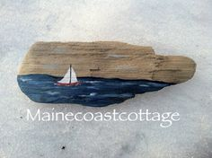 Driftwood Sailboat Decorative Petite Sign by MaineCoastCottage, $19.95