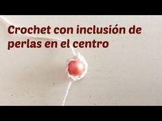 Cómo agregar abalorios en el centro de un tejido crochet - YouTube