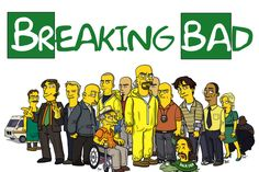 Breaking Bad, The Big Bang Theory, Game of Thrones, The Walking Dead: veja seriados famosos na versão Simpsons - Infosfera Serie Breaking Bad, Breaking Bad Poster, Gus Fring, The Simpsons Movie, Simpsons Characters, Bryan Cranston, Dessin Old School, Simpsons Drawings, Humor