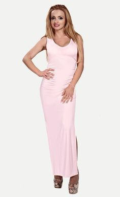 $23.99   Pink Cut-Out Back Evening Dress