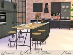 Isla Kitchen by Pilar at TSR via Sims 4 Updates