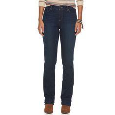 Women's Chaps Curvy Fit Straight-Leg Jeans, Size: 6, Blue