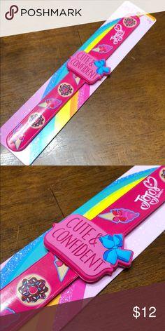 0050b2a10e87 Jojo Siwa slap band bracelet Jojo Siwa slap band bracelet Says Cute    Confident with a blue bow Band had chocolate covered donuts with sprinkles  and pink ...