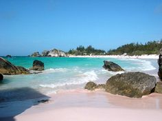 Pink sand beaches in Bermuda - Horseshoe Bay - loved this spot!