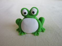 Green Polymer Clay Frog
