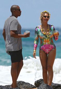 Beyoncé and Jay Z in Hawaii
