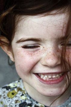 Her freckles bring a smile to our faces too! #smile #love #kids #freckles