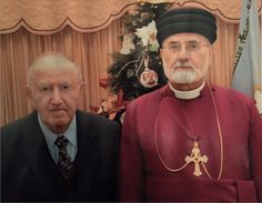 His Holiness Mar. Dinkha and his brother Deacon Ezarya.