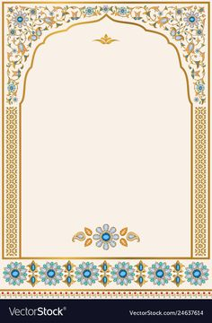 Iinvitation template for design of ornate wedding invitation, greeting card and . Iinvitation template for design of ornate wedding invitation, greeting card and other. Ornamental floral frame of gold a. Indian Wedding Invitation Cards, Wedding Invitation Background, Wedding Invitation Card Design, Wedding Card Templates, Wedding Card Design Indian, Indian Wedding Cards, Card Wedding, Decoraciones Ramadan, Islamic Art Pattern
