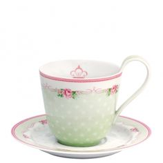 GreenGate Cup & saucer Amelie white