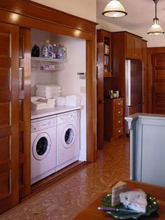 Hide Laundry with Sliding Doors