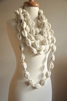 Wool Beaded Necklace/Scarf