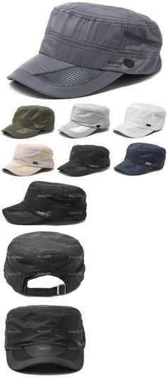 04cacd57ef3 Mens Accessories 4250  Men S Classic Summer Army Hat Military Cadet Patrol  Style Brim Spring