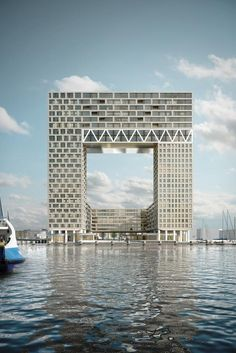 The tallest building in Amsterdam Holland