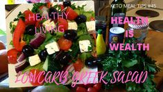 A very tasty and healthy salad! One of my favorite in Greek Restaurant. Greek Restaurants, Greek Salad, Keto Meal, Healthy Salads, Cherry Tomatoes, Fruit Salad, Meal Ideas, Cucumber, Keto Recipes